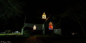 Chapelle Saint Jaoua illumnée à Noël 2016