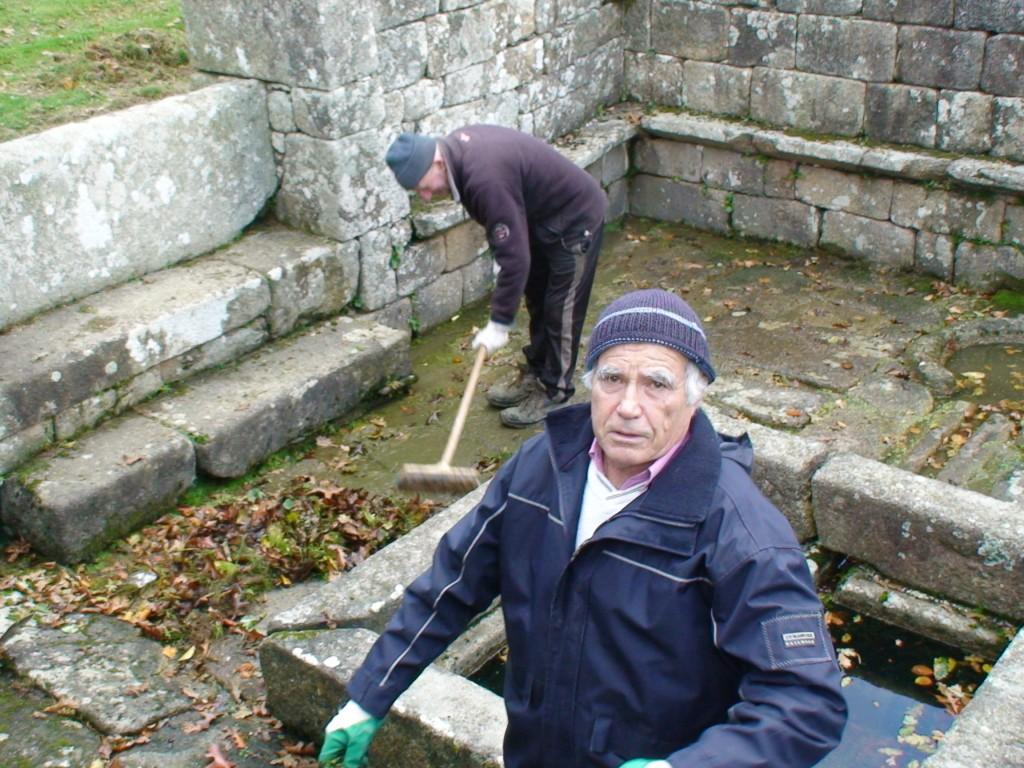 nettoyage de la fontaine